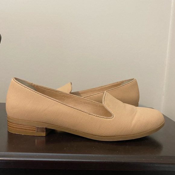 Call It Spring beige faux leather flats